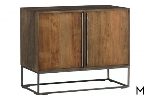 Contemporary Sideboard with Metal Base