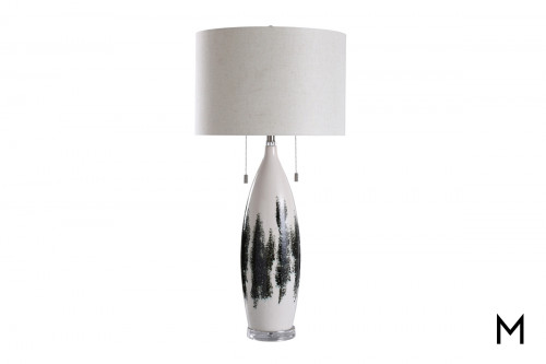 Abstract Glaze Ceramic Table Lamp