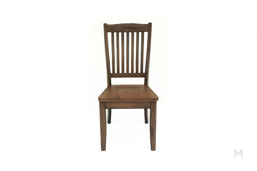 Canyon Slat Back Chair with wood seat