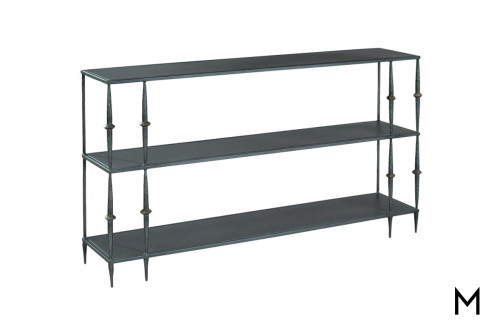 Decorative Metal Console with 3 Shelves