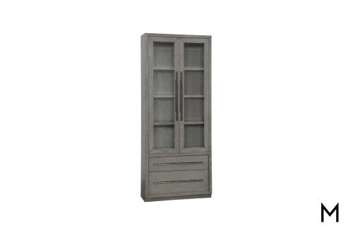 M Collection Vertical Glass Door Cabinet