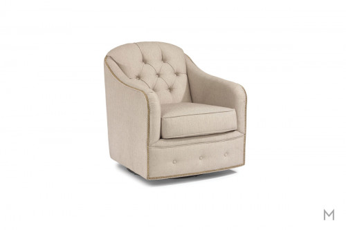 Fairchild Swivel Chair with Tufted Buttons