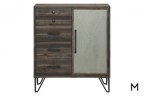 Pierced Metal Door Cabinet