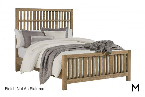 Artisan Choices Slat King Bed in Dark Oak