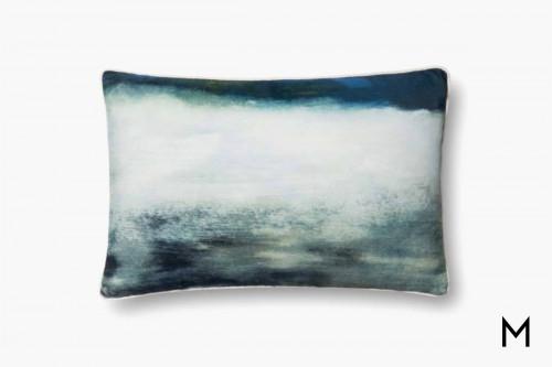 Cloudy Blue Throw Pillow