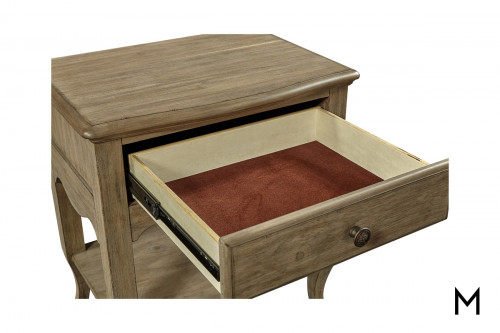 Provence Patine 1 Drawer Nightstand