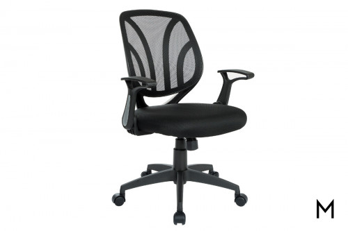 Black Screen Back Chair