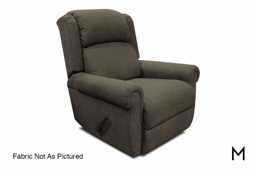 EZ Motion Swivel Gliding Recliner in Jig Linen