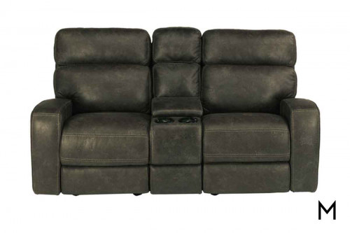Tomkins Power Reclining Loveseat with Power Headrests and Console
