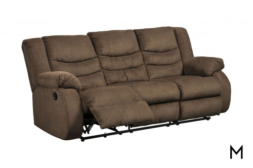 Tulen Reclining Sofa in Chocolate Brown