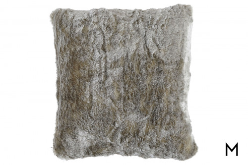 "Faux Fur Accent Pillow 20""x20"""