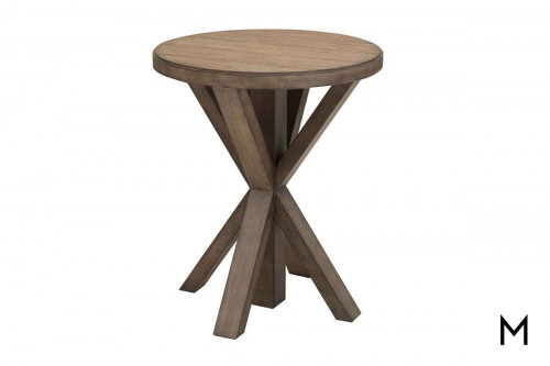 Oak Plank End Table
