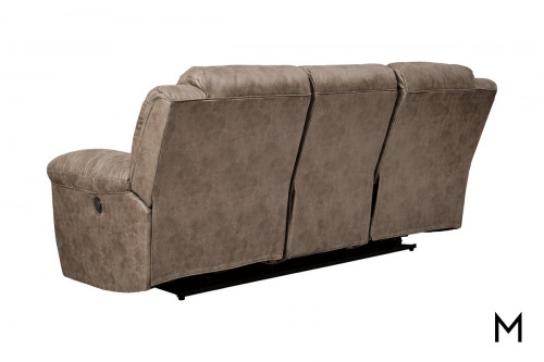 Stoneland Reclining Sofa in Fossil Brown