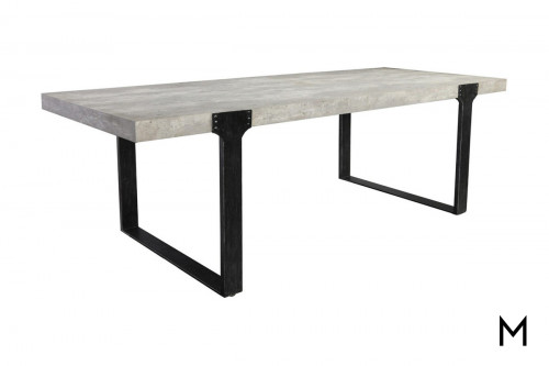 Manhattan Dining Table with Concrete Top
