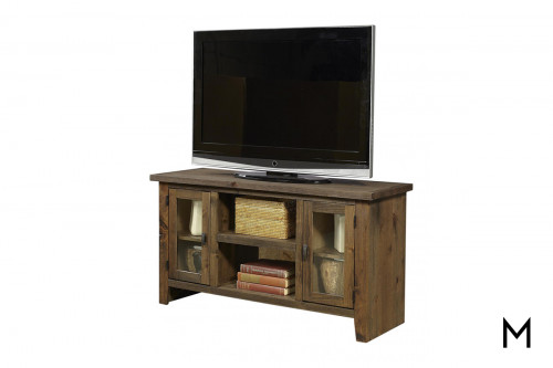 "Alder 2 Door 50"" TV Console in Fruitwood Finish"