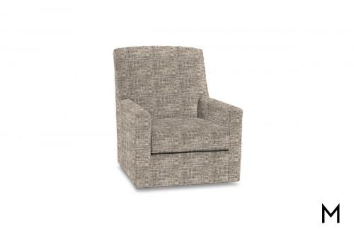 Owen Swivel Glider Accent Chair in Cappuccino