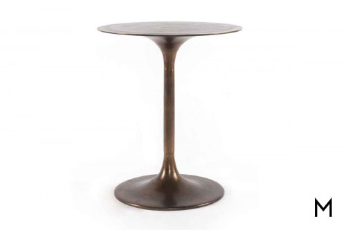 Marlow Tulip Side Table in Aluminum