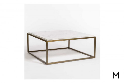Beckett Coffee Table with Marble Top