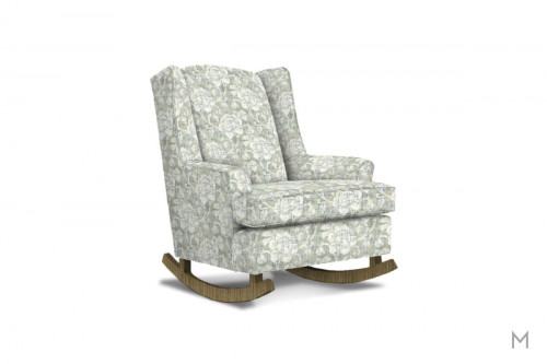 Willow Wingback Rocking Chair in Mineral