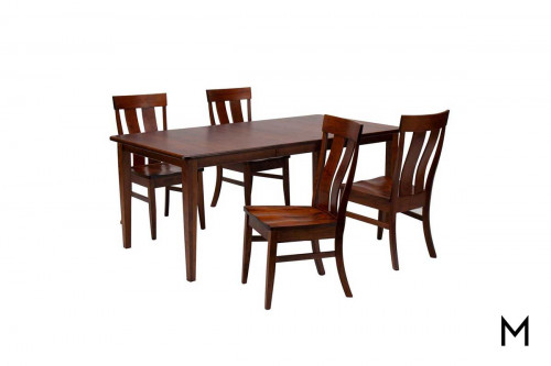 Franklin 5 Piece Dining Set in Cherry Wood