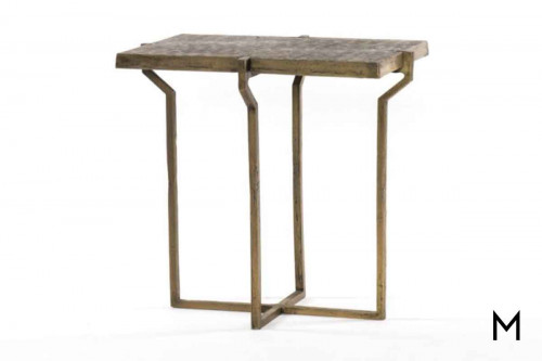 Rumi End Table in Brass