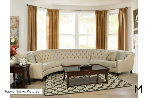 Wedge Three-Piece Sectional Sofa