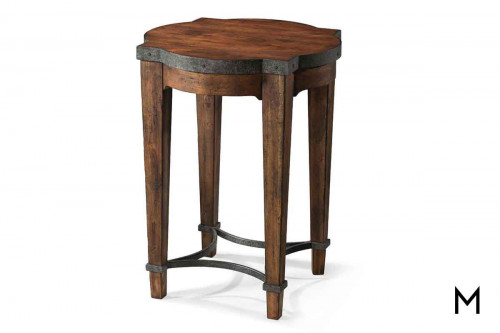 Ginkgo End Table featuring Metal Detailing