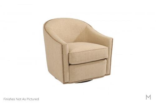 Kedzie Swivel Chair featuring Nailhead Trim
