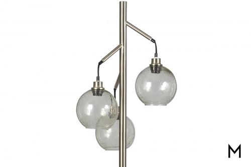 Contemporary Glass Orb Floor Lamp