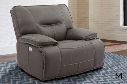 M Collection Spartacus Power Recliner with Power Headrest
