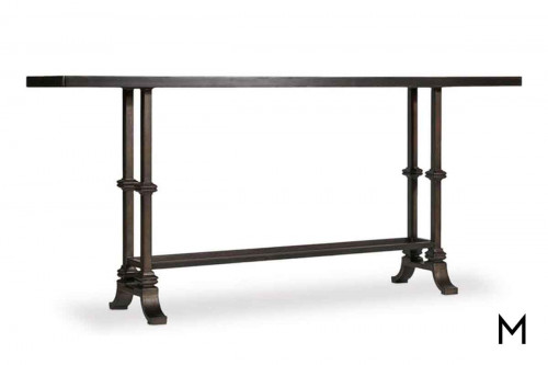 Auberose Console Table featuring Poplar Top and Metal Base