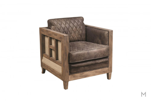 Slater Accent Chair featuring Quilted Leather and Nailhead Trim