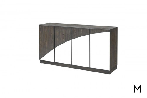 Marino Mirrored Media Credenza with 4 Doors