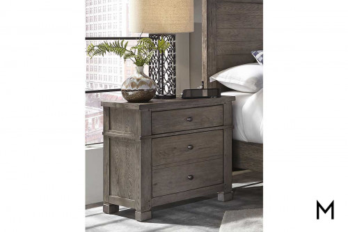 Tucker Two Drawer Nighstand with Hidden Storage