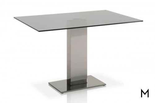 High Rise Dining Table with Glass Top