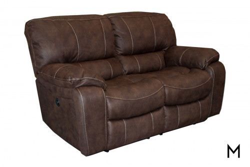 M Collection Overstuffed Reclining Loveseat
