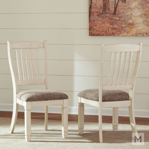 Bolanburg Upholstered Dining Side Chair in Vintage White
