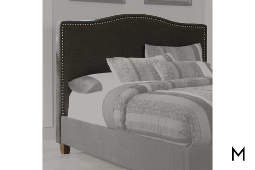 Kasidon Queen Upholstered Headboard in Dark Brown