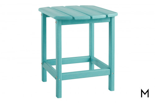 Sundown Outdoor End Table in Turquoise