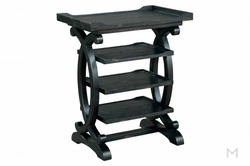 Four Tier End Table in Black