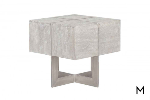 Desmond End Table in White