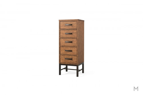Affinity 5 Drawer Lingerie Chest in Mango with a Rustic Finish