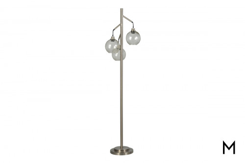 Contemporary Glass Orb Floor Lamp