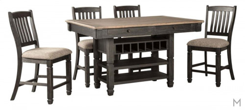 Two-Toned Counter Height 5-Piece Dining Set