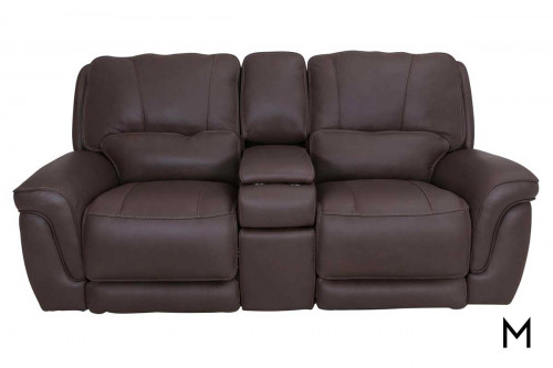 M Collection Montecarlo Power Headrest Loveseat with Console