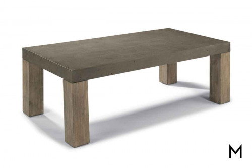 Keystone Coffee Table with Distressed Wood Finish and Concrete