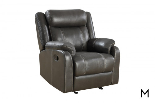 Domino Gliding Recliner Chair in Valor Carbon