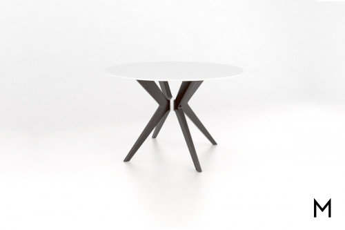 Contemporary 48' Frosted Glass Dining Table