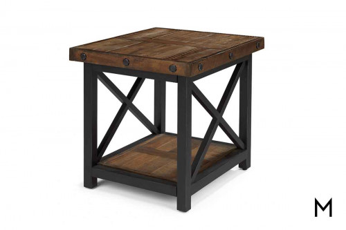 Carpenter End Table with Reclaimed Wood