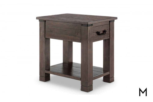 Pine Hill End Table in Rustic Pine